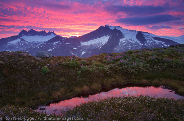 Sunrise and the Mendenhall Glacier