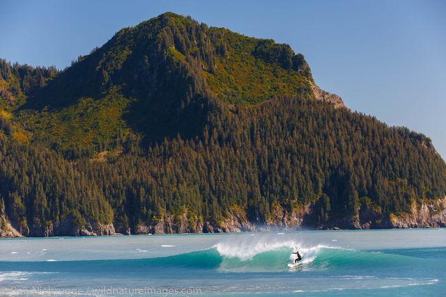 Surfing in Alaska