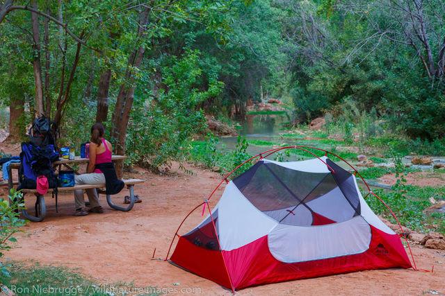 Camping near Havasu Fall, Arizona