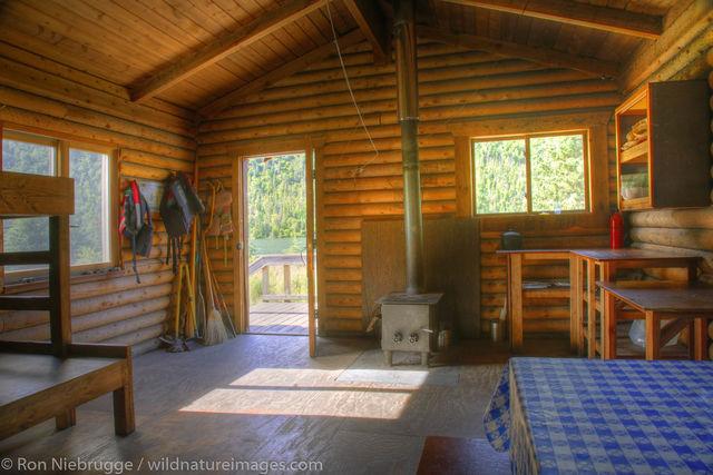 Alaska, Alaskan, Americas, Barber Cabin, Chugach, Chugach National Forest, Inside, Kenai Peninsula, Lower Russian Lake, National...
