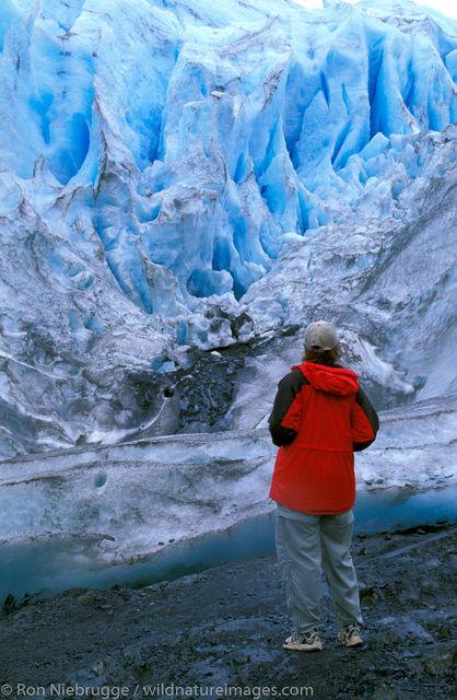AK, Ak., Alaska, America, American, Americas, Exit Glacier, Kenai Fjords National Park, MR, Model release, National, Niebrugge...
