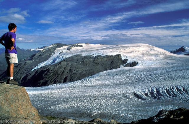 Hiker (Ron) Harding Icefield