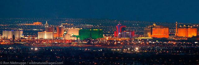 Panoramic view of the Strip