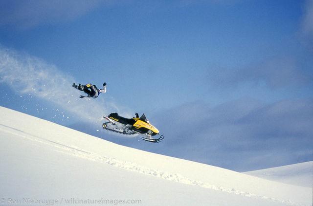 Snowmobile riding Lost Lake - Jake