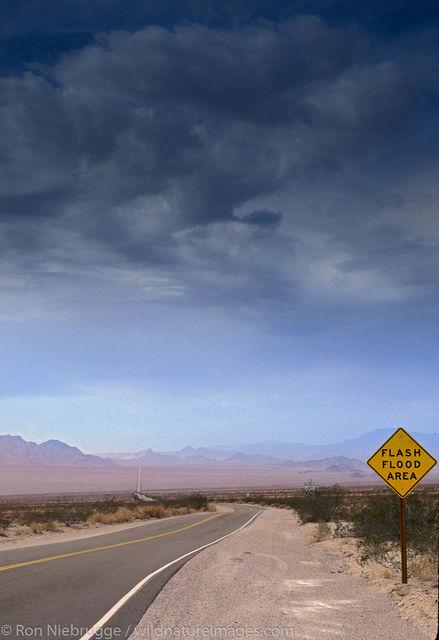Americas, CA, Calif, California, Californian, Flash flood, Highway 62, Mojave desert, North America, North American, Ron Niebrugge...