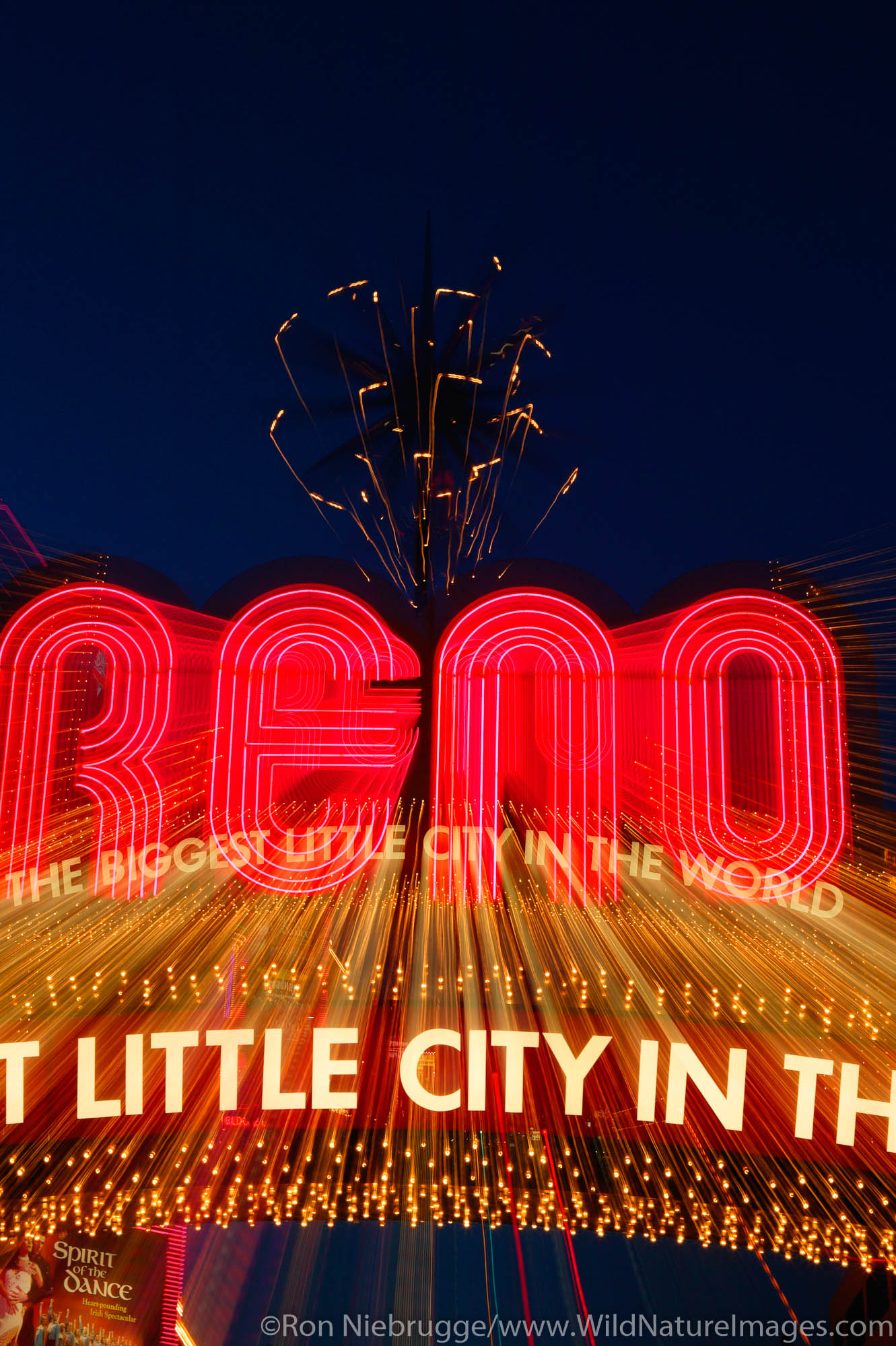 """The famous """"Biggest little city in the world"""" sign"""" to Reno, Nevada."""