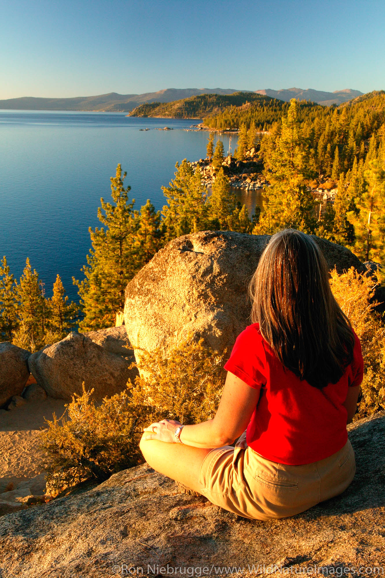 Visitor (MR) on the Nevada side looking towards California, Lake Tahoe.