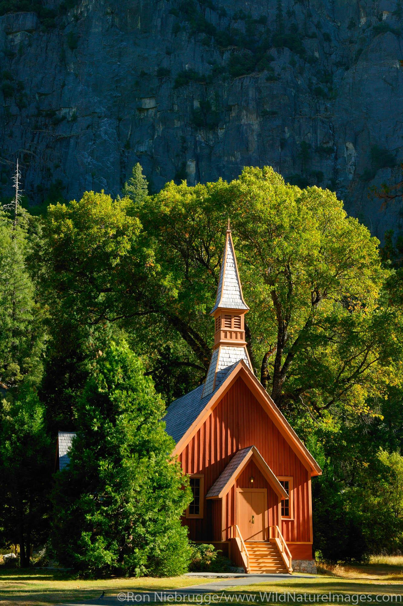 Church in Yosemite National Park, California.