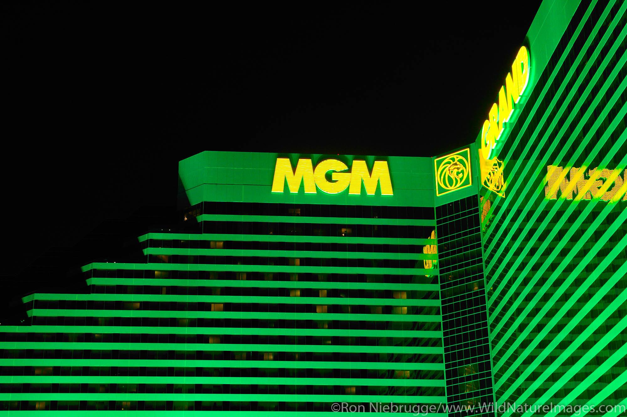 MGM Grand on the strip, Las Vegas, Nevada.