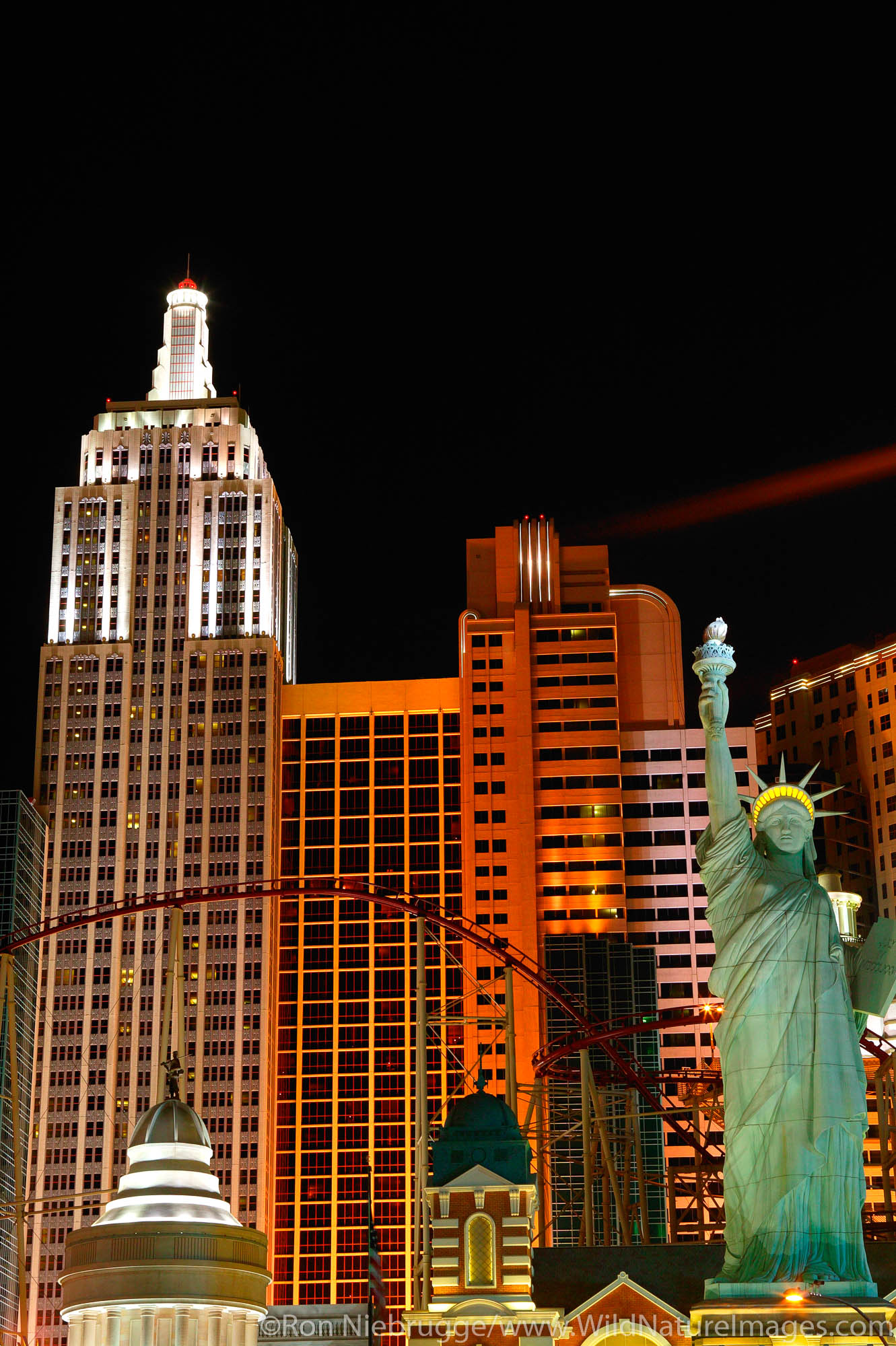 The New York New York casino and hotel on the strip in Las Vegas, Nevada.