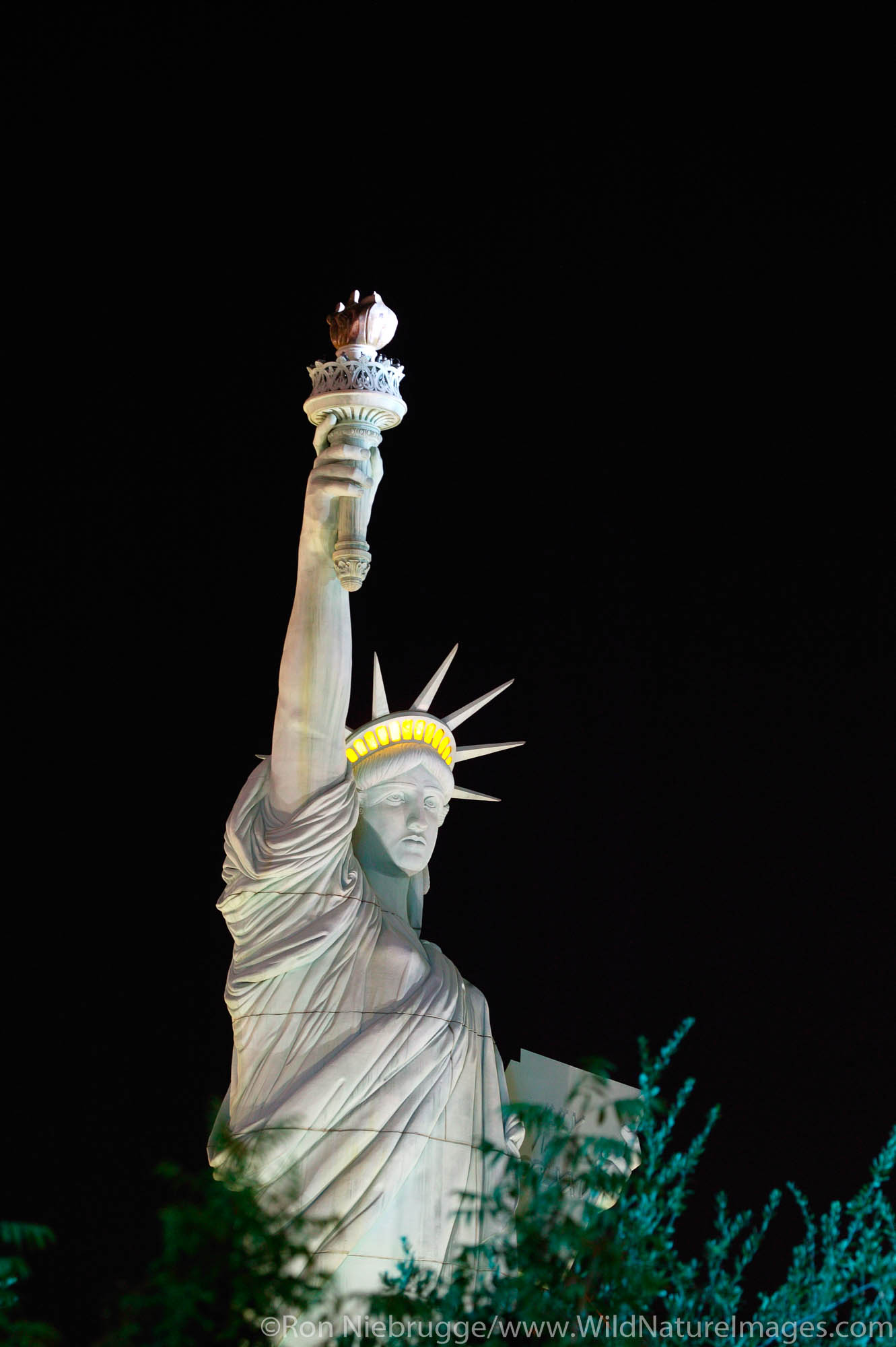 Statue of of Liberty in front of the New York New York Hotel and Casino in Las Vegas, Nevada.