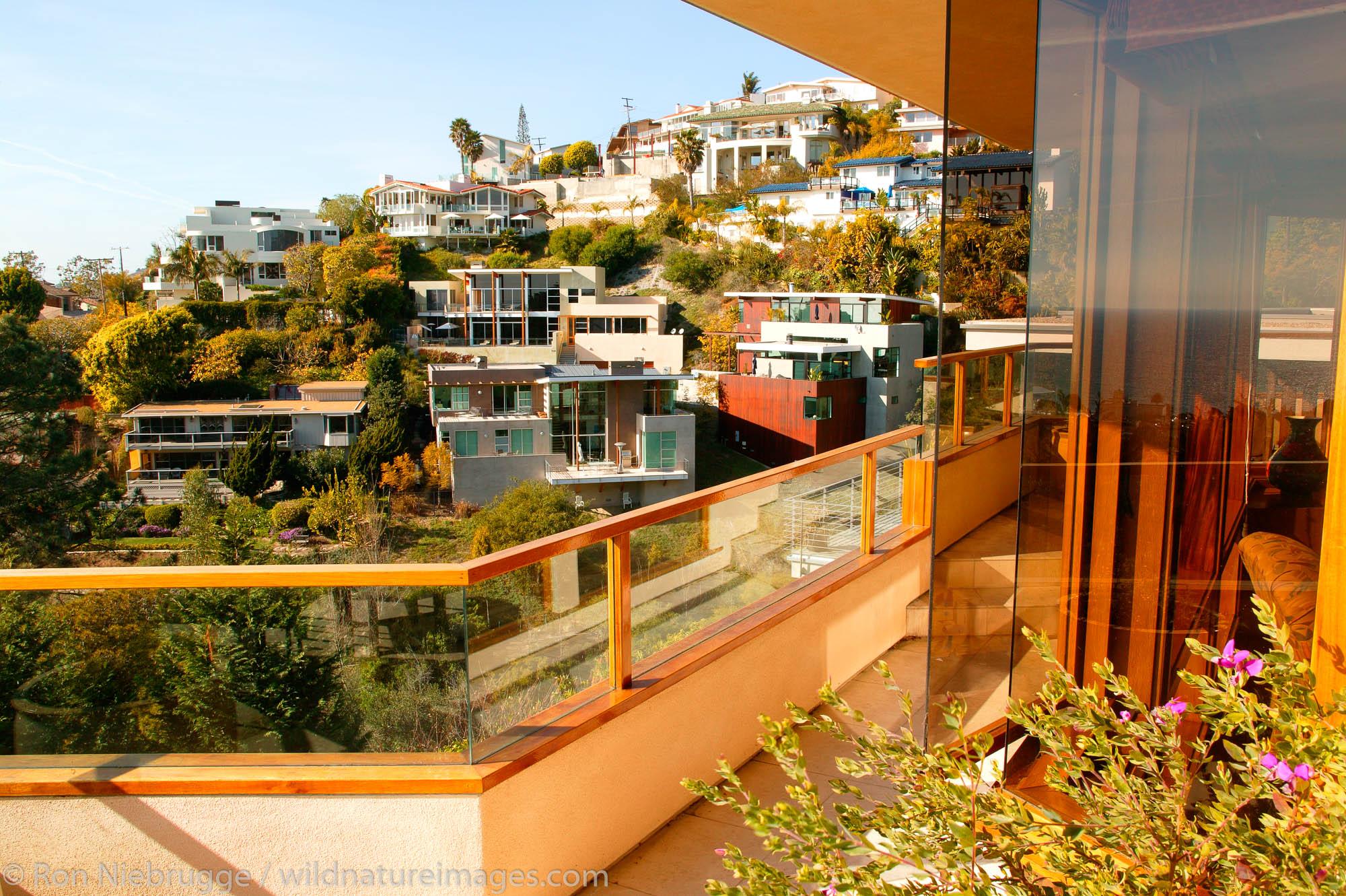 Luxury homes on the hills of Laguna Beach, California.