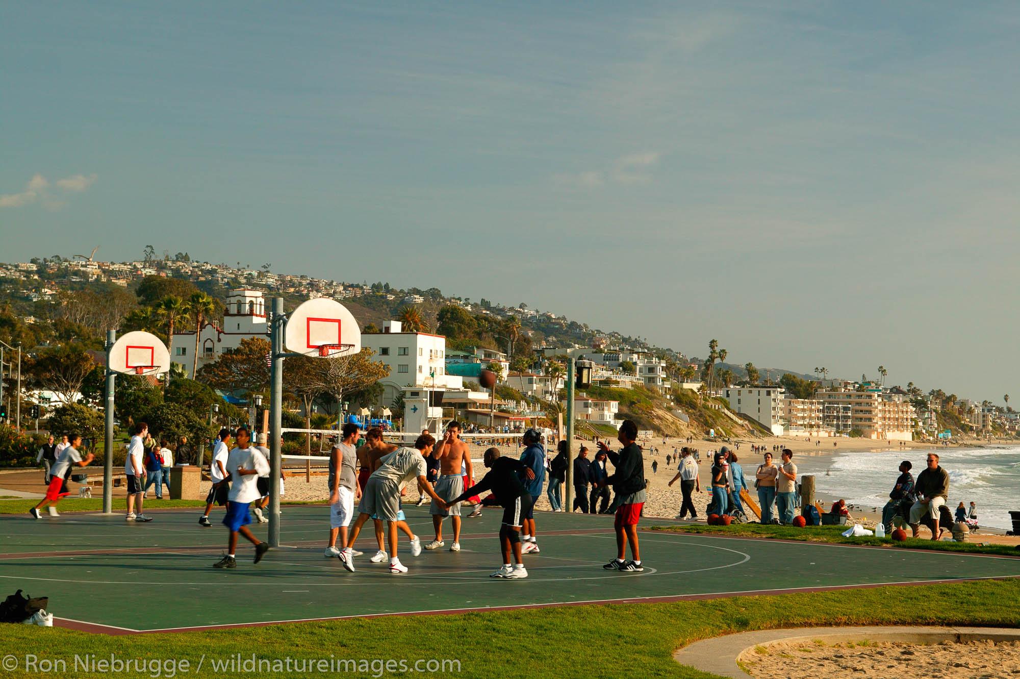 Basketball courts, Laguna Beach, California.
