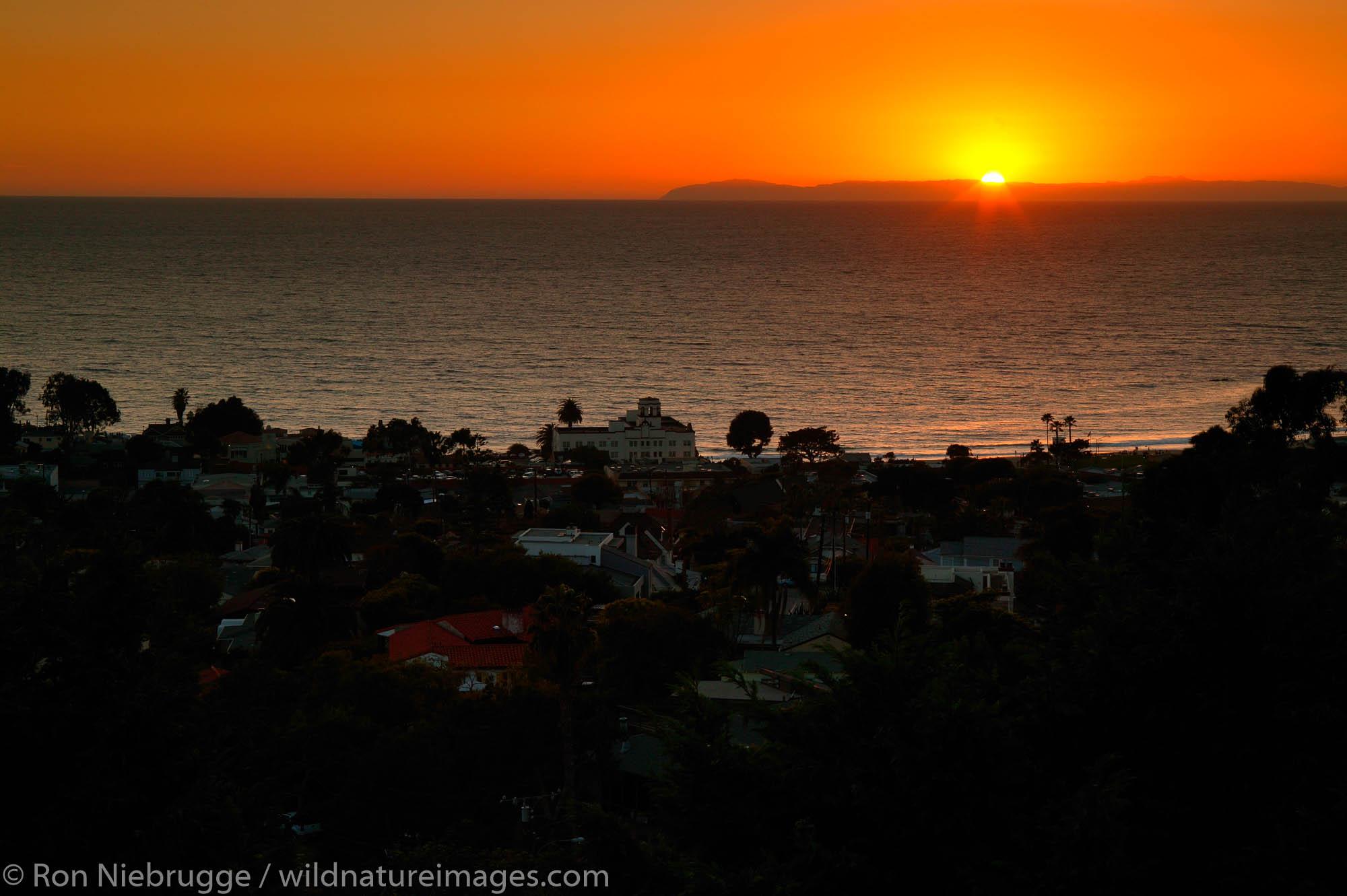 Laguna Beach California at sunset.