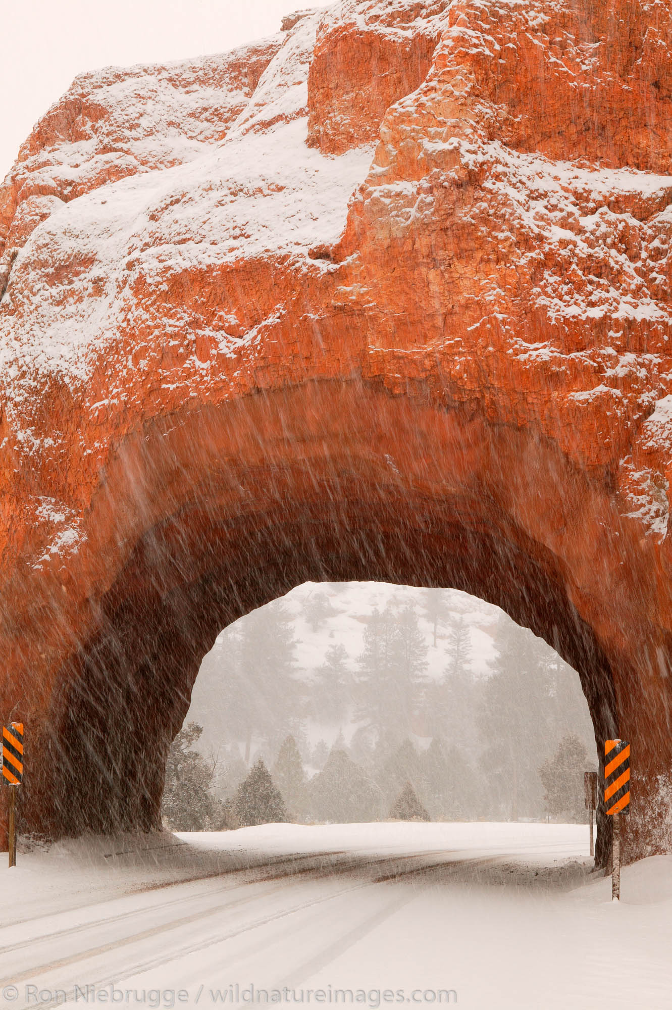 Senic Byway highway 12, Red Canyon in the winter, Dixie National Forest, Utah.