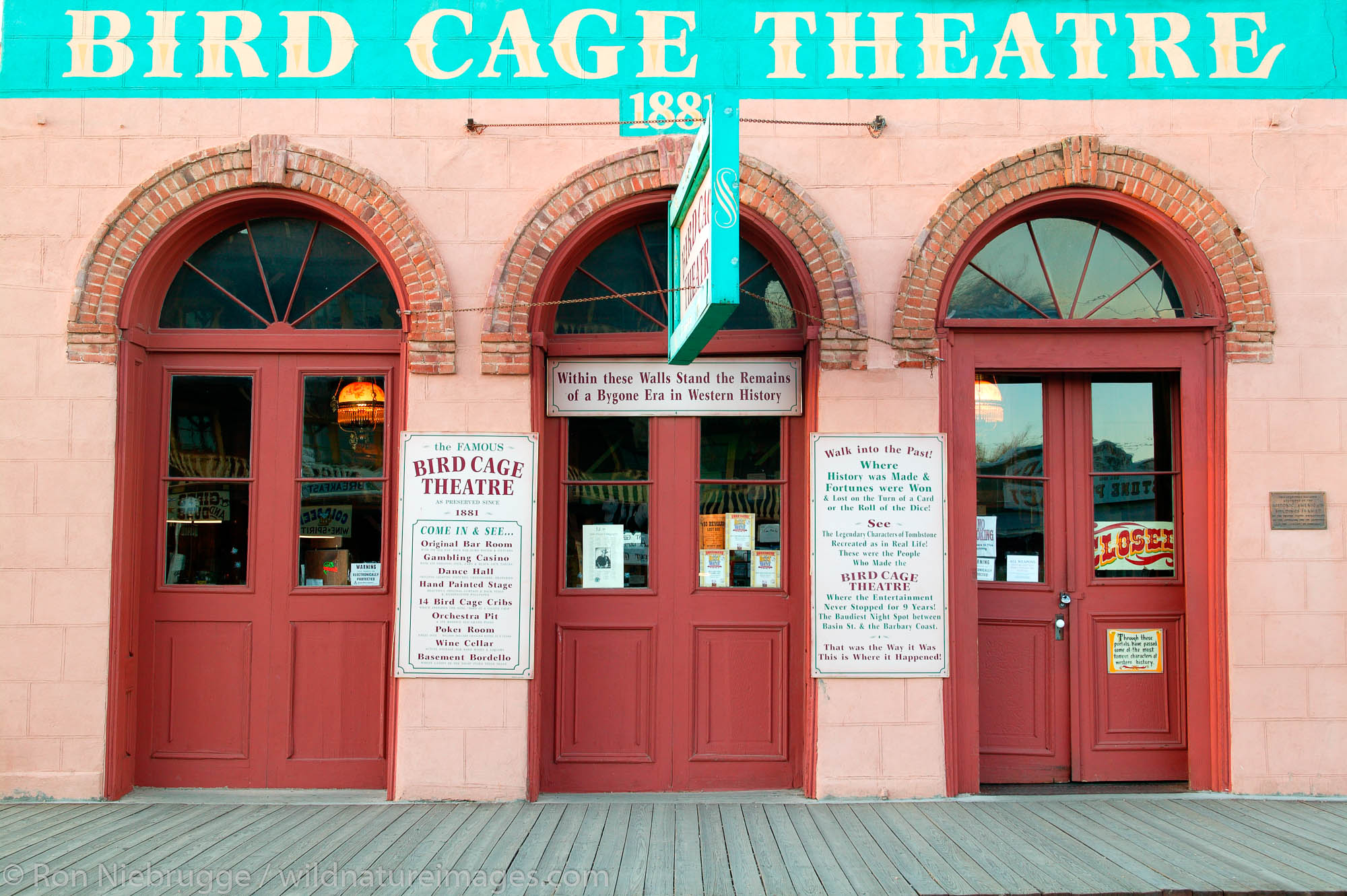 The Bird Cage Theater in Historic Tombstone Arizona, site of the OK Coral gunfight.