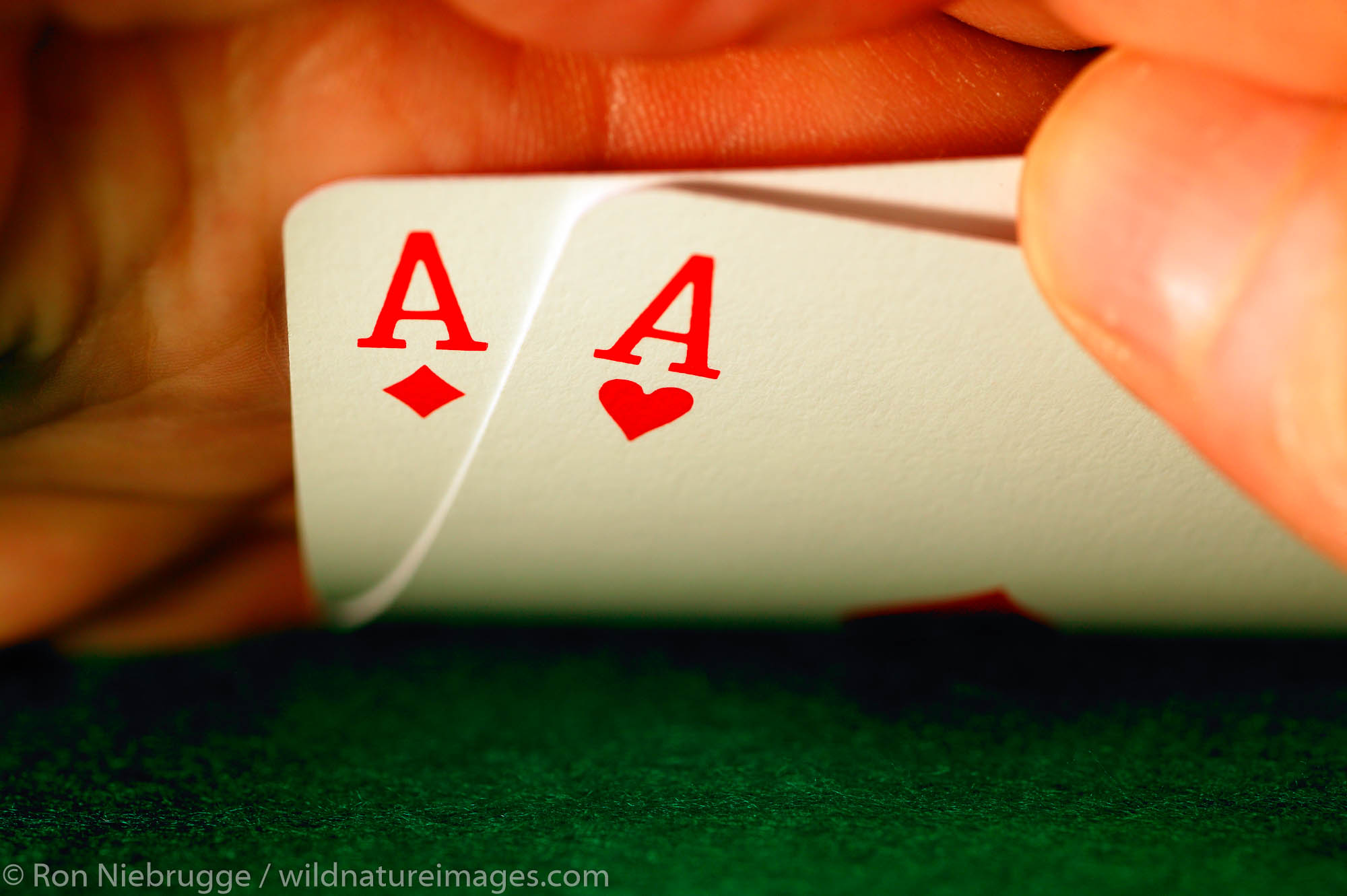 """""""Pocket aces"""" the best starting hand in Texas Hold'em Poker."""