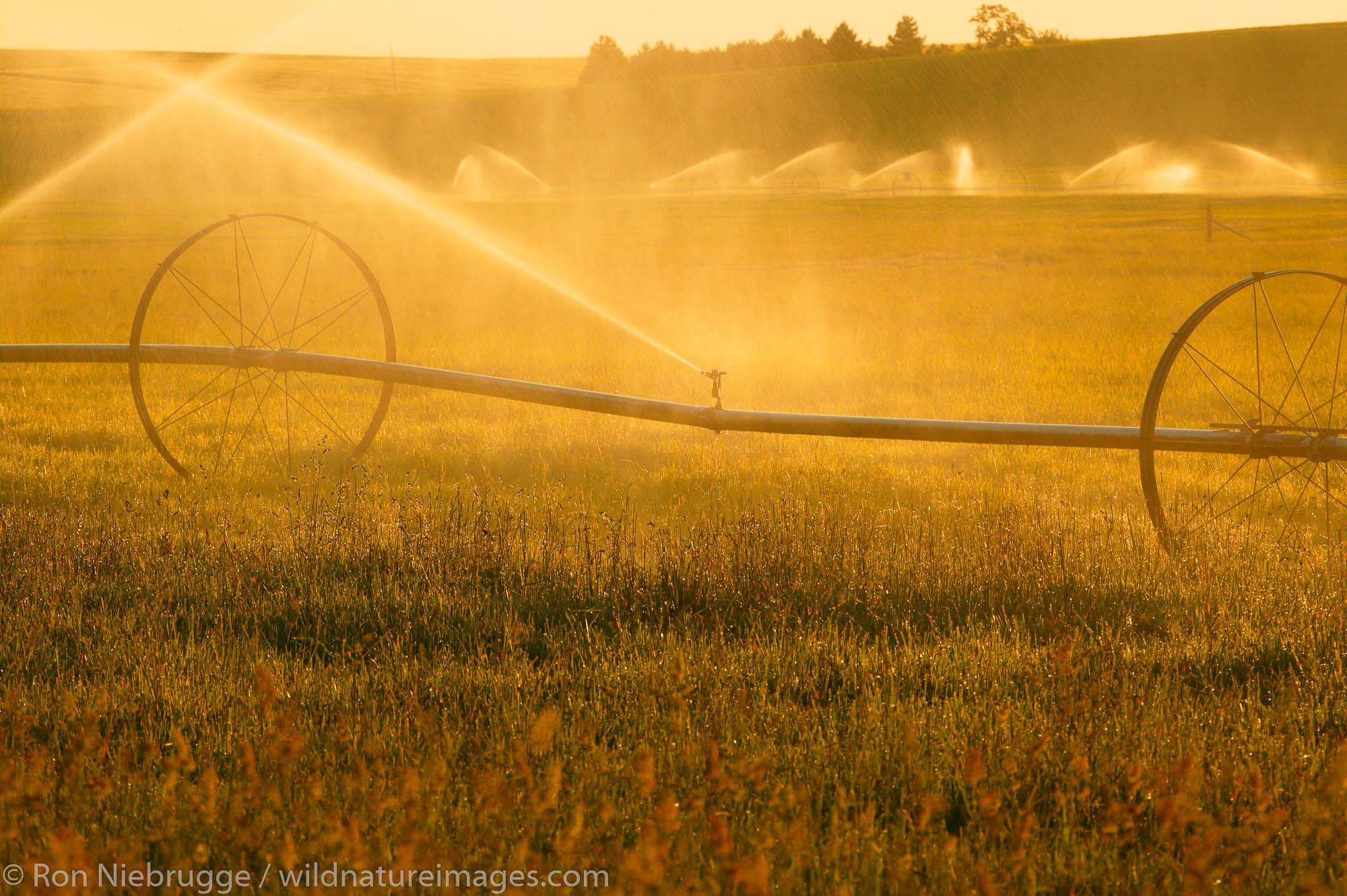Watering the wheat fields near Ritzville in Eastern Washington.