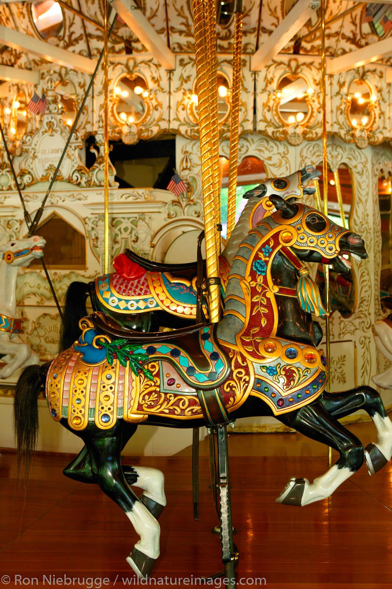 The Historic Carrousel in Riverfront Park, Spokane, Washington.