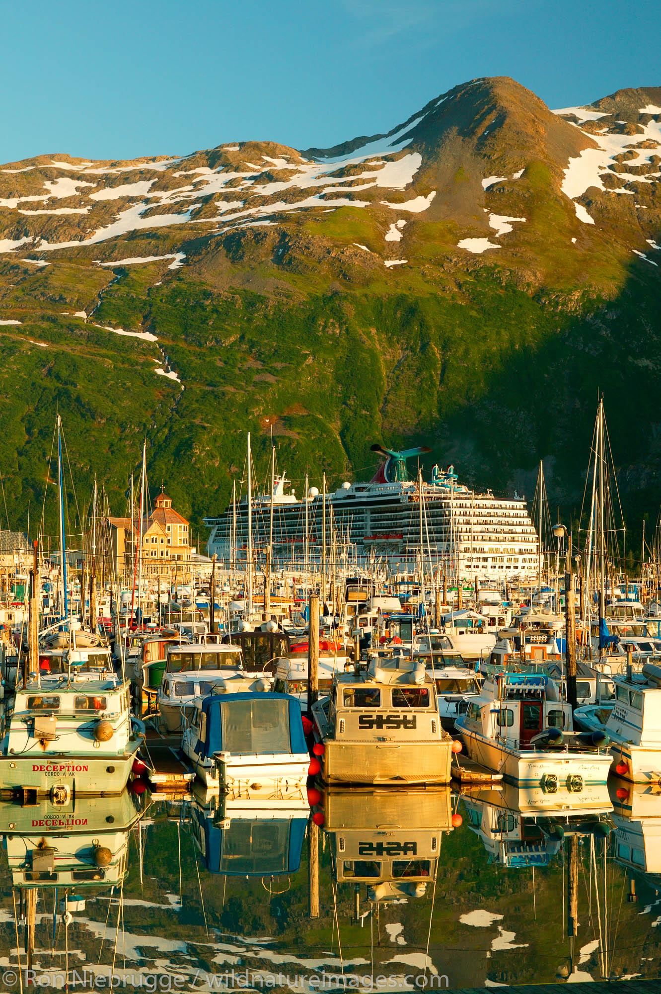 The small boat harbor Whittier, Alaska.