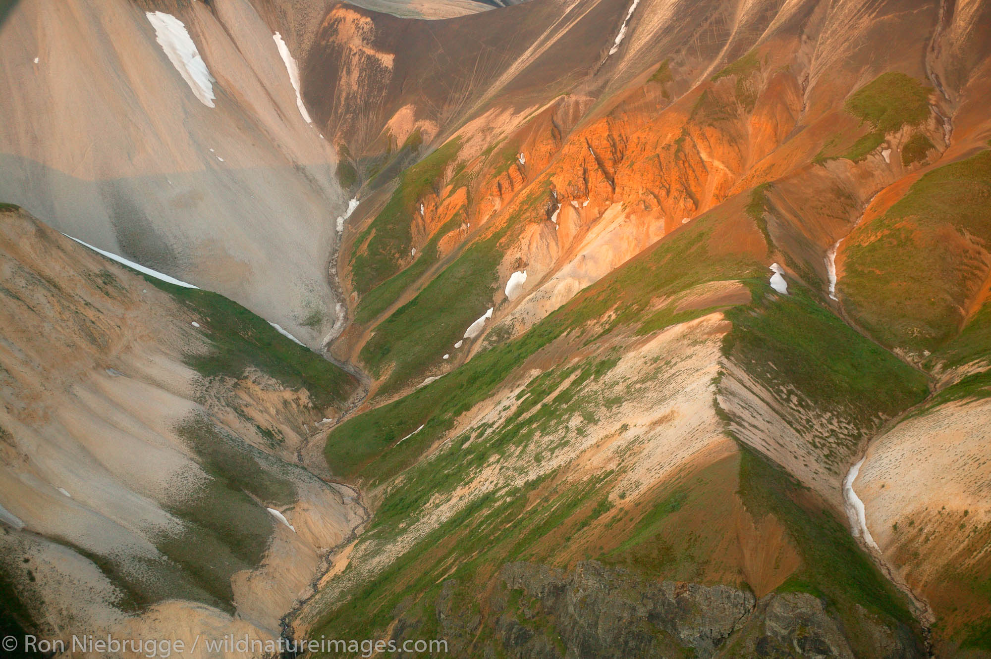 Mountins near McCarthy, Wrangell-St. Elias National Park and Preserve, Alaska.