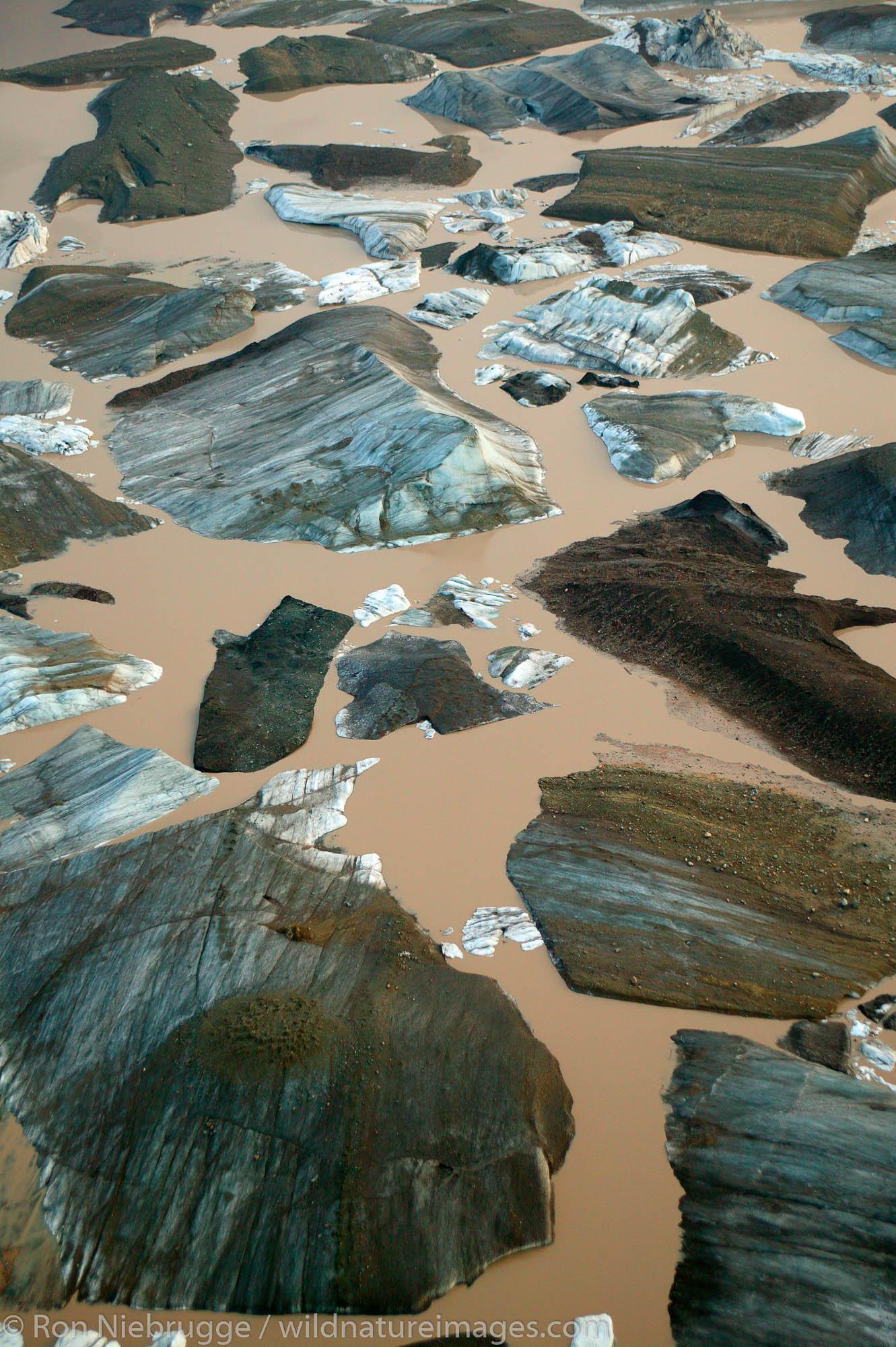 Icebergs from the Nizina Glacier, Wrangell-St. Elias National Park and Preserve, Alaska.