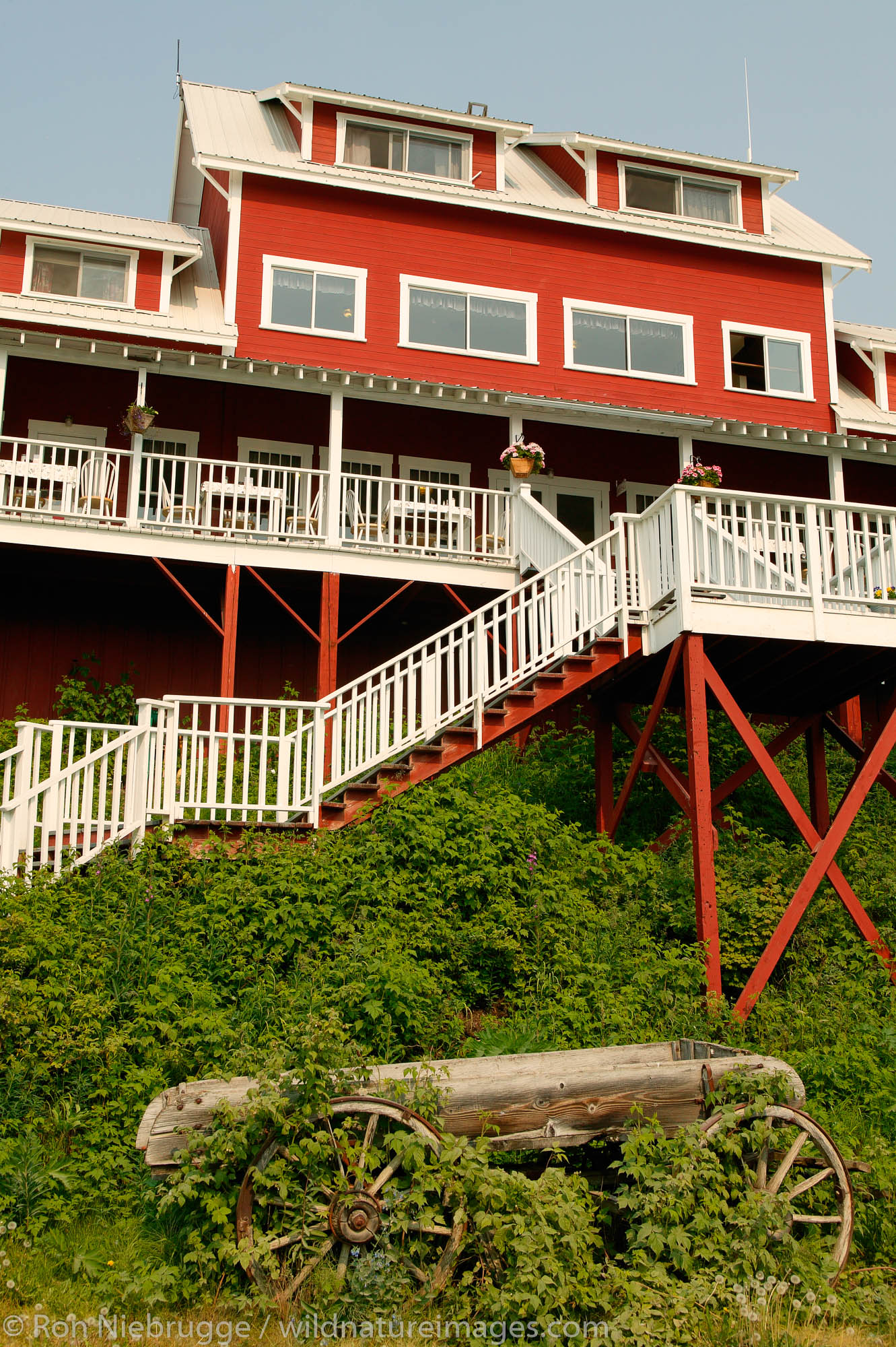 The Kennicott Logde sits near the buildings from the historic Kennicott Mill built in 1907 by the Kennecott Copper Corporation...