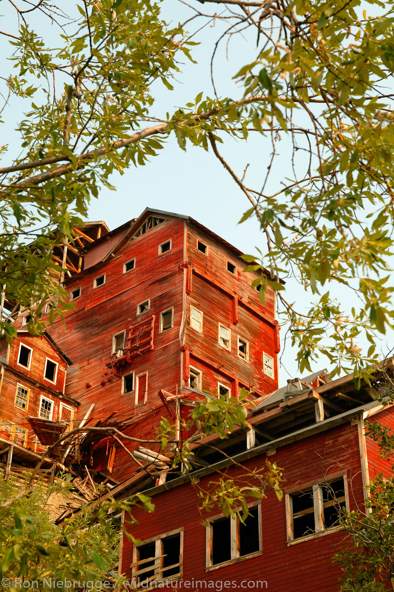 The historic Kennicott Mill built in 1907 by the Kennecott Copper Corporation near McCarthy, Wrangell-St. Elias National Park...