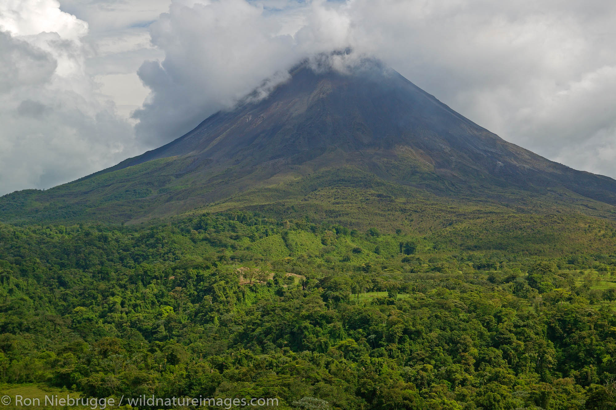 Arenal Volcano from near Lake Arenal, Costa Rica.