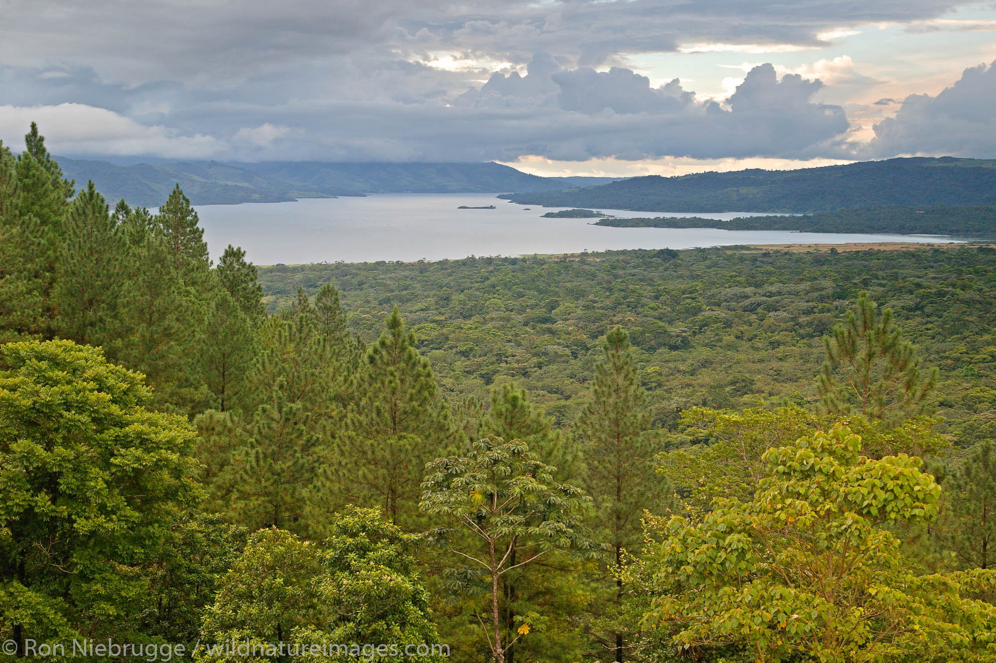 Lake Arenal from the Arenal Observatory Lodge which was originally built by the Smithsonian Institute for scientists to use to...