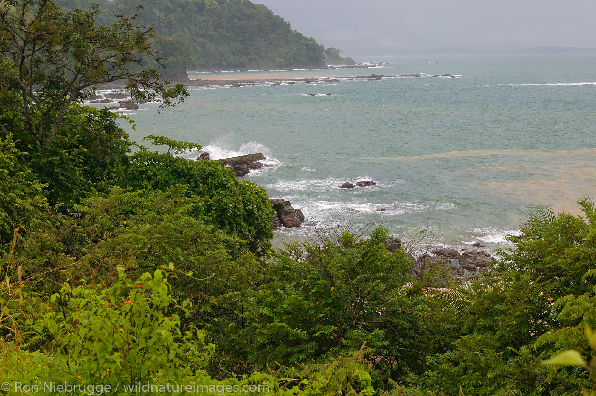 The coastline just south of Dominical, Costa Rica.