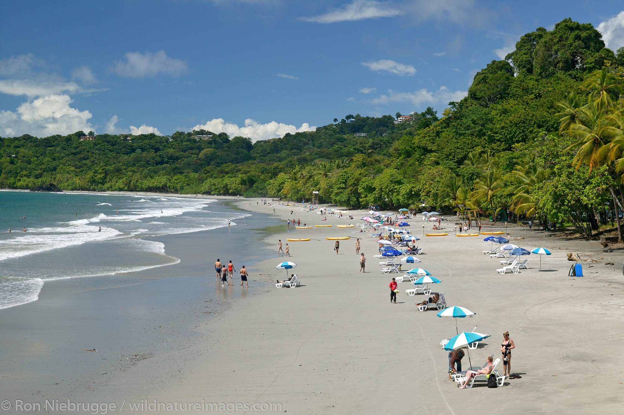 The First Beach and the Pacific Ocean at Manuel Antonio, Costa Rica.