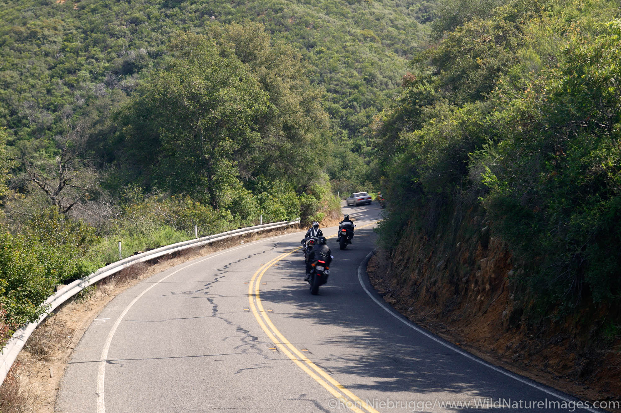 Motorcycles on the Ortega Highway or Highway 74, Orange County, Southern, California.