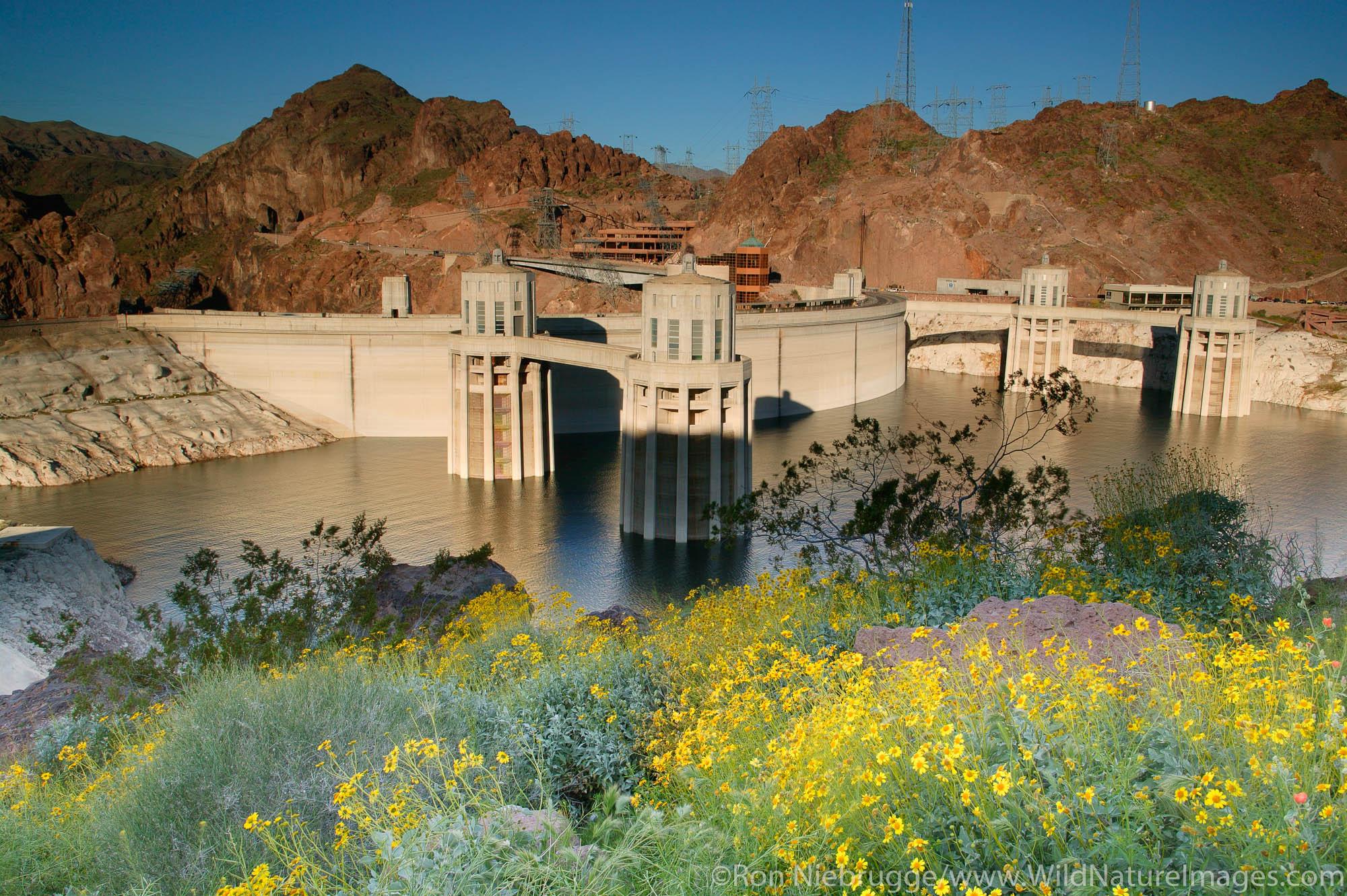 Hoover Dam, Lake Mead Recreation Area, looking towards Nevada from Arizona.