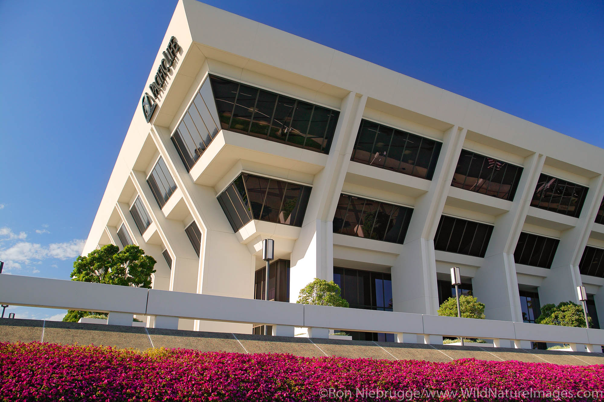 Pacific Life building in Fashion Island, Newport Beach, California.