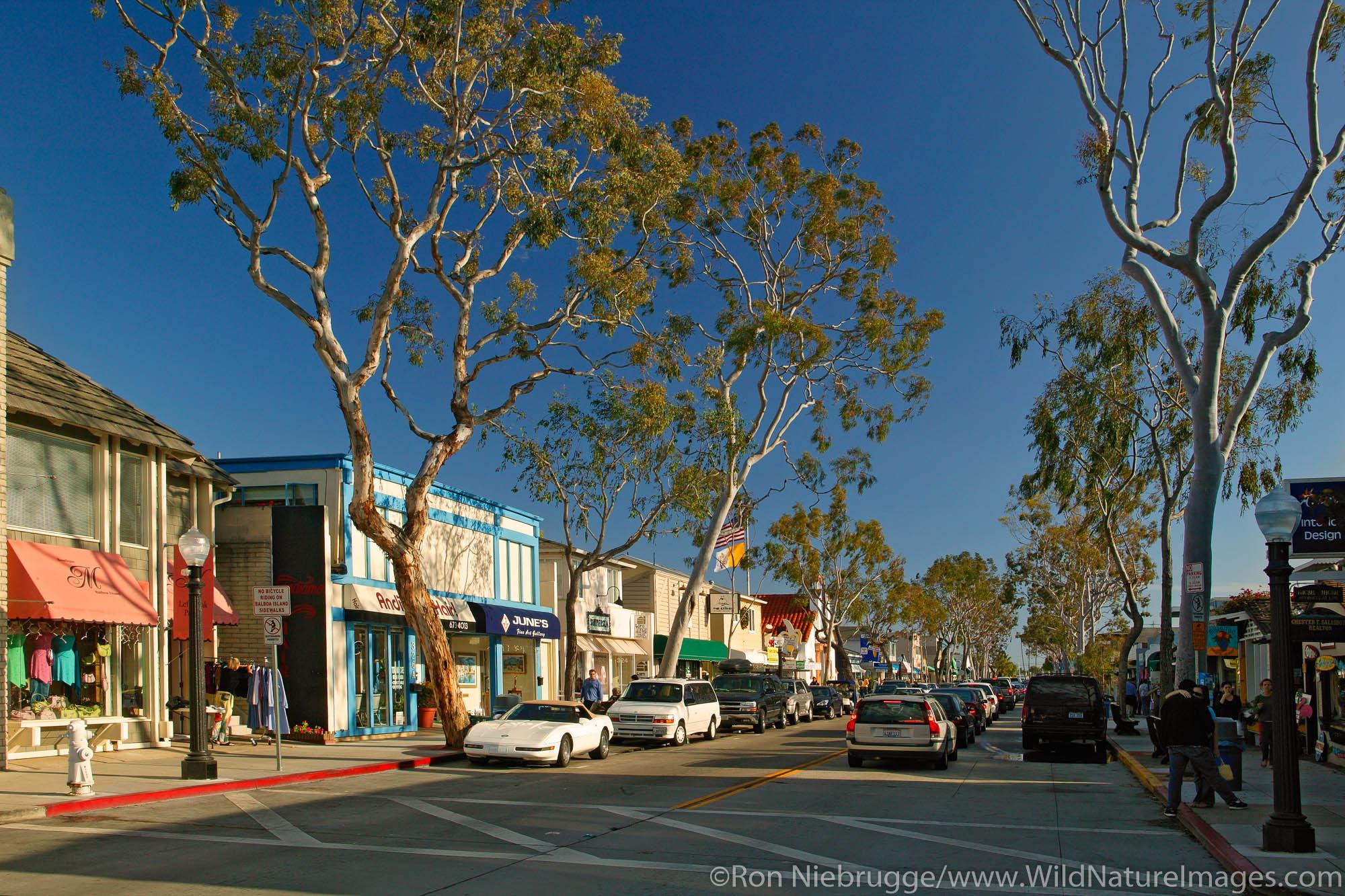 Balboa Island, Newport Beach, California.