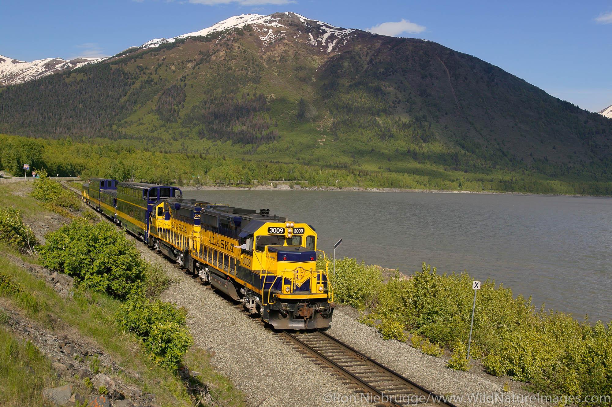 The first class passenger railcar on the Alaska Railroad, Anchorage, Alaska.