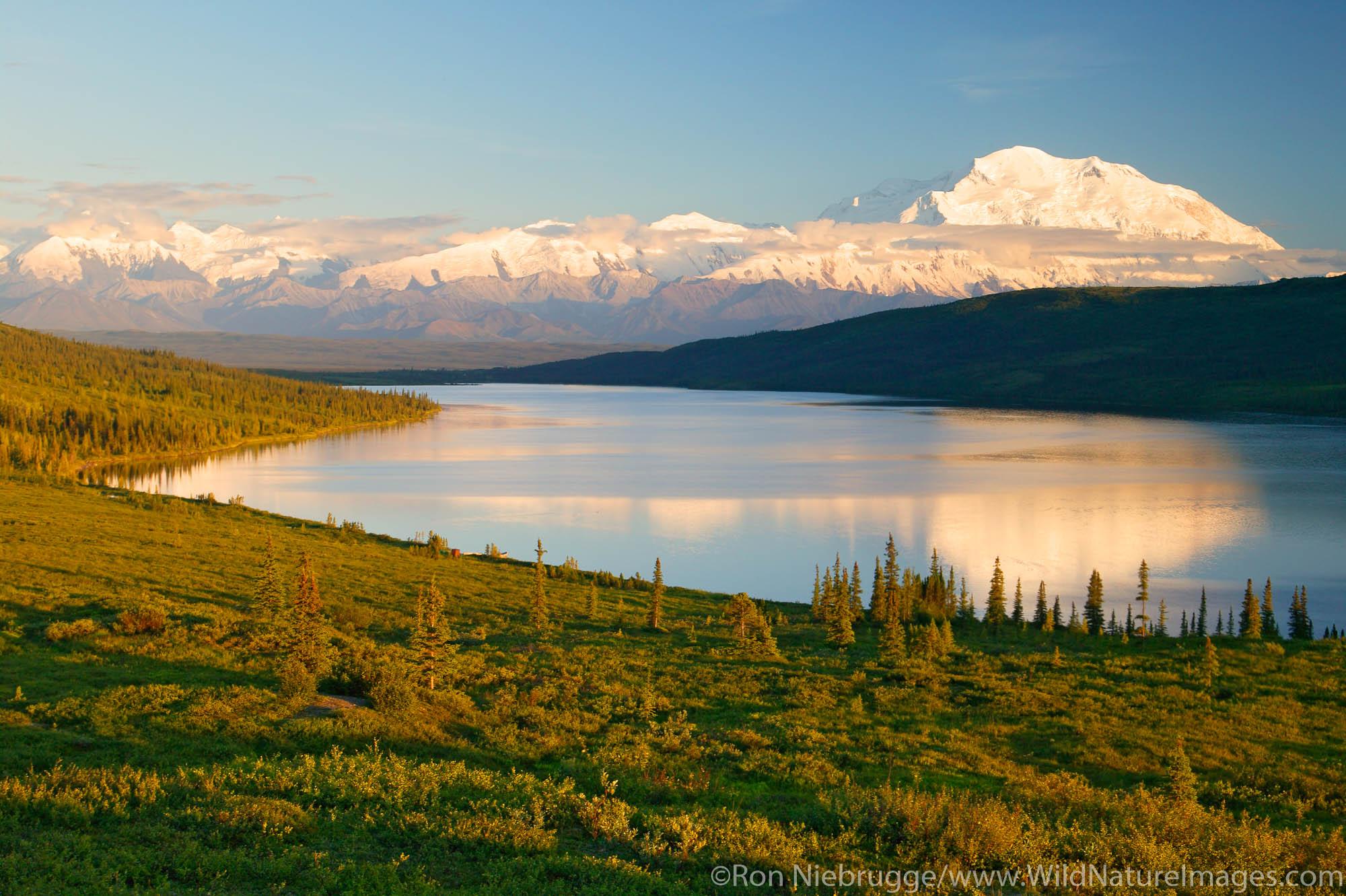 Wonder Lake, Denali National Park, Alaska.
