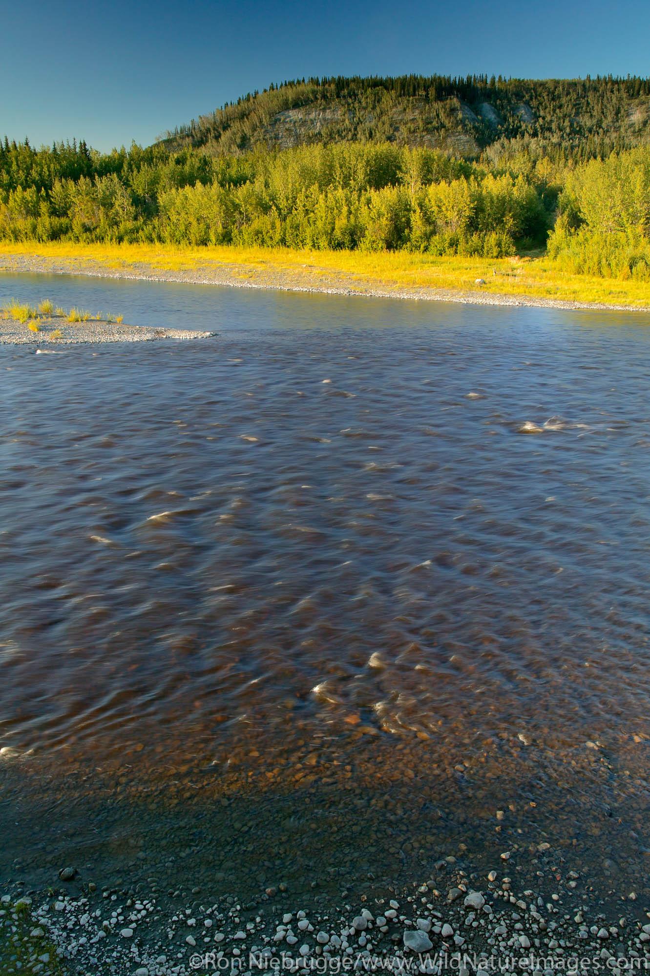 The Gulkana River, Copper River Valley, Alaska.
