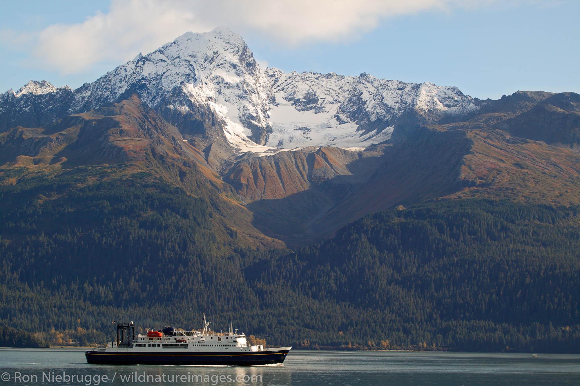 The Alaska State Ferry Tustumena leave Seward, Alaska for the final time.