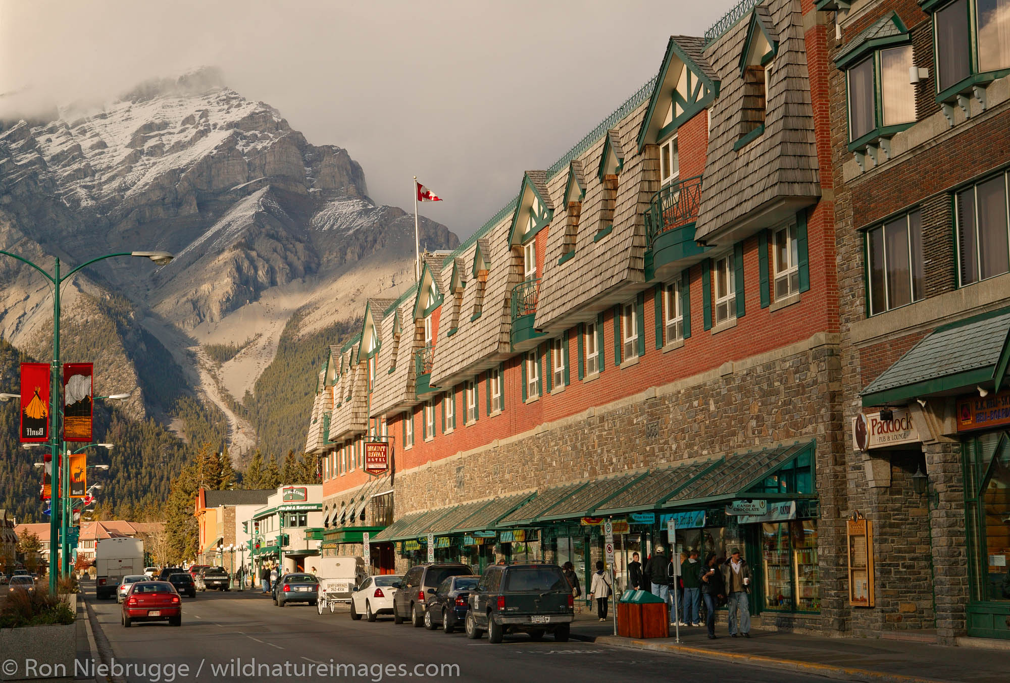 The Mount Royal Hotel in the town of Banff in Banff National Park, Alberta, Canada.