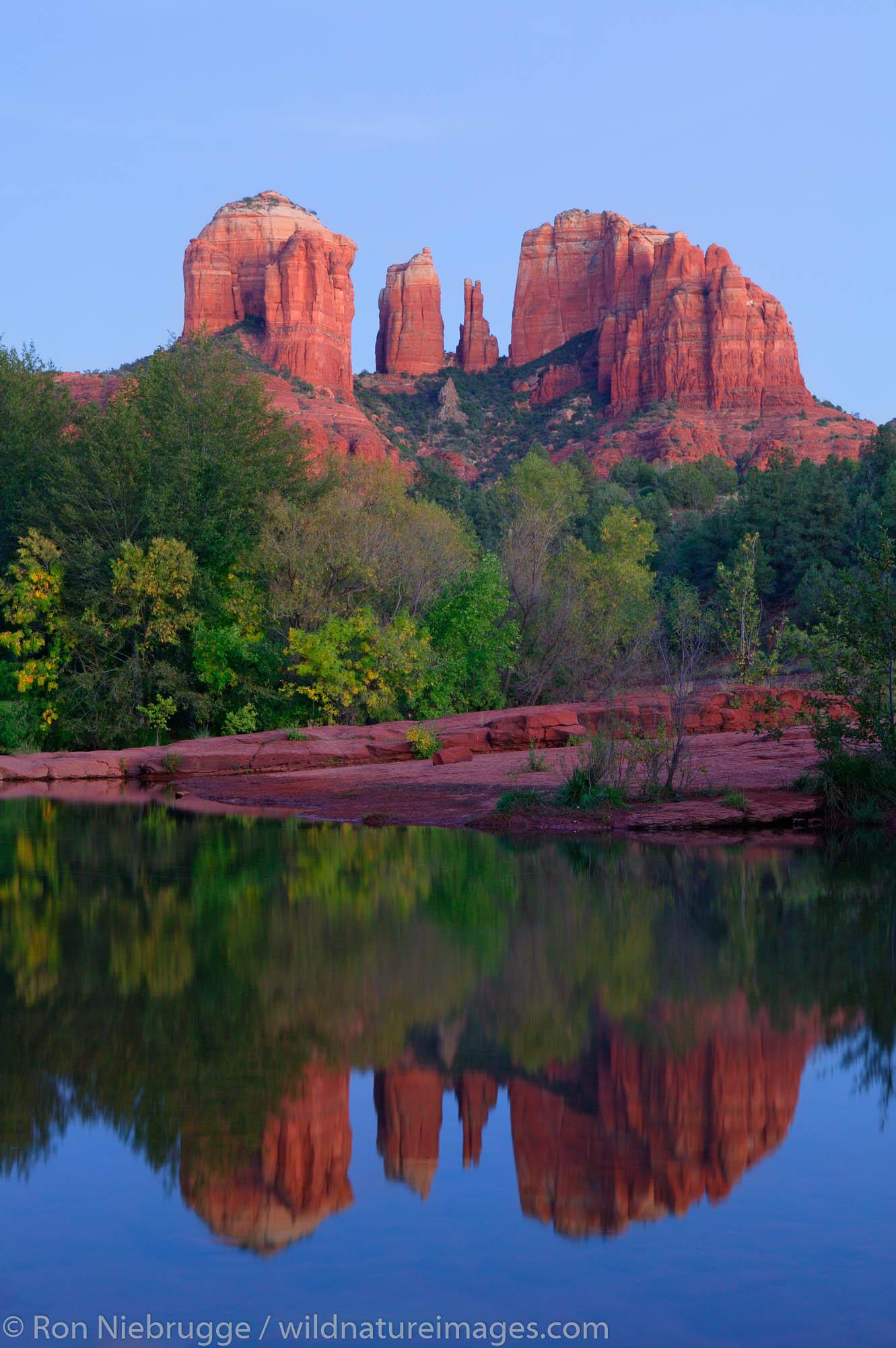 Cathedral Rock and Oak Creek, Sedona, Arizona.