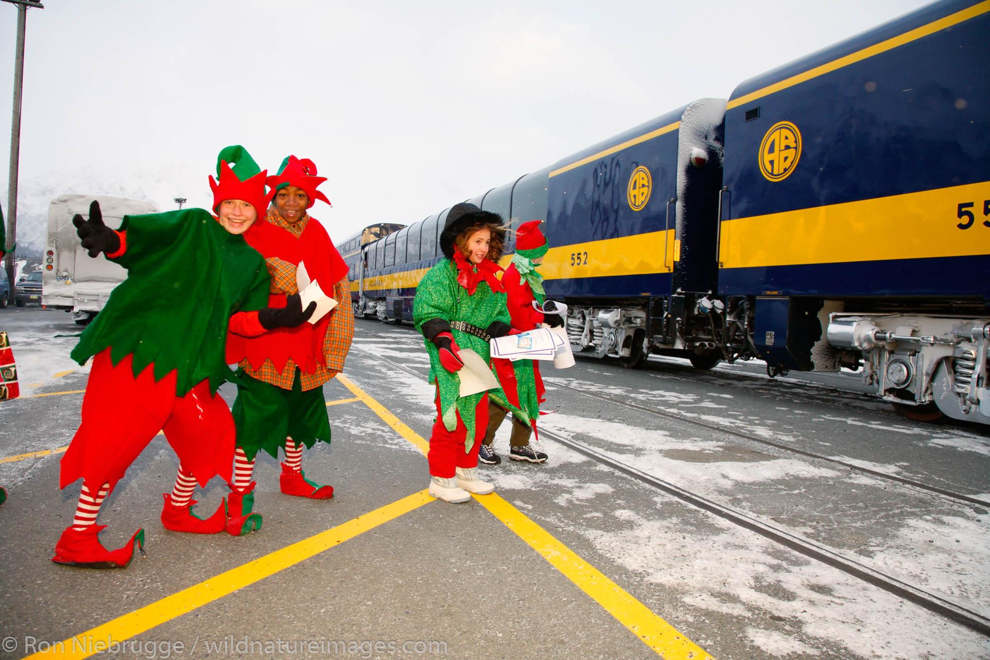 Holiday Train, Alaska Railroad, Seward, Alaska.