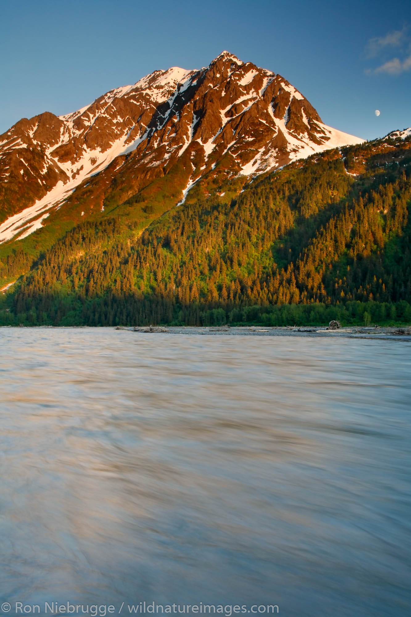 Mt. Benson and Resurrection River, Kenai Peninsula, Chugach National Forest, Alaska.