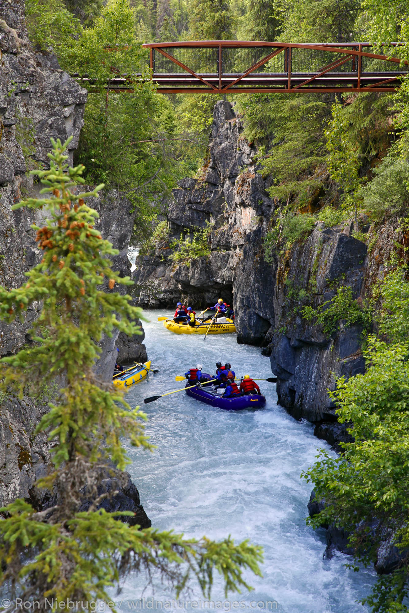 White Water Rafting Six Mile Creek Kenai Peninsula Chugach National Forest Alaska.