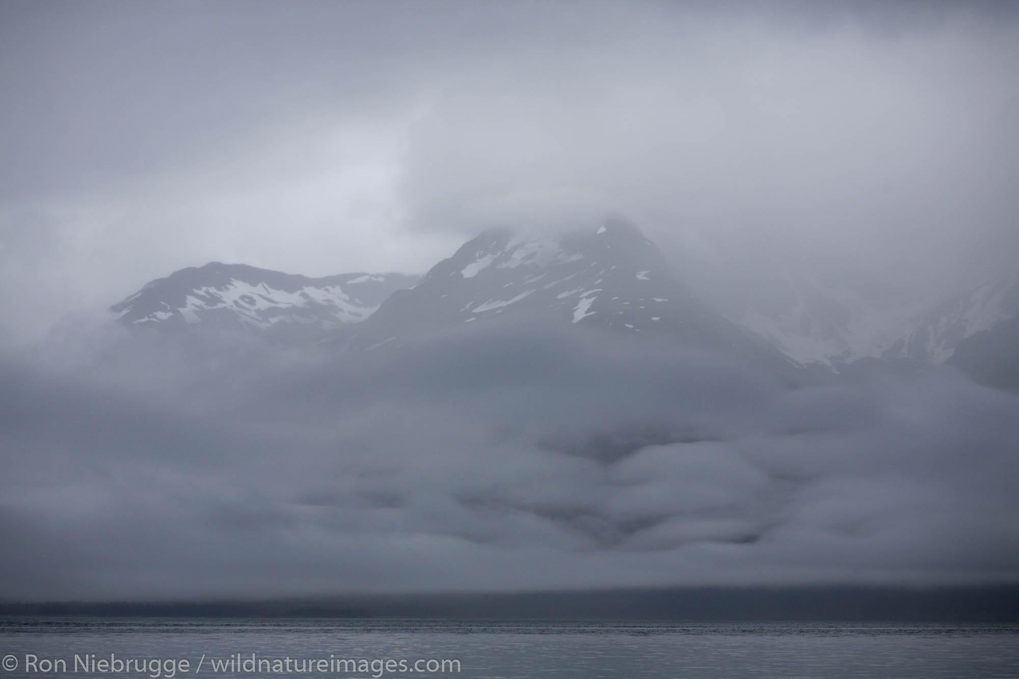 Stormy weather along Barry Arm, Prince William Sound, Chugach National Forest, Alaska.