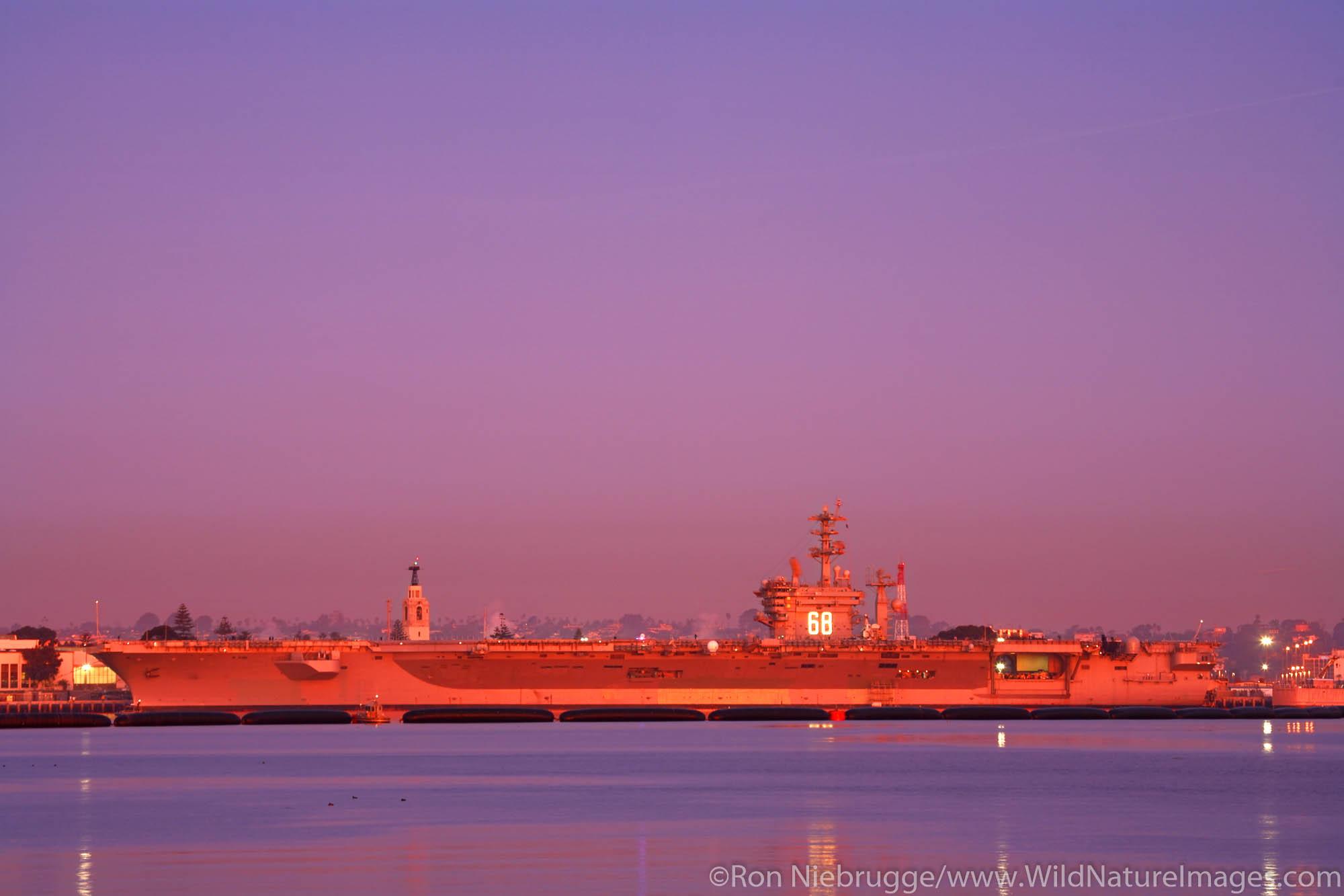 The nucler powered aircraft carrier USS NIMITZ, Coronado, San Diego, California.