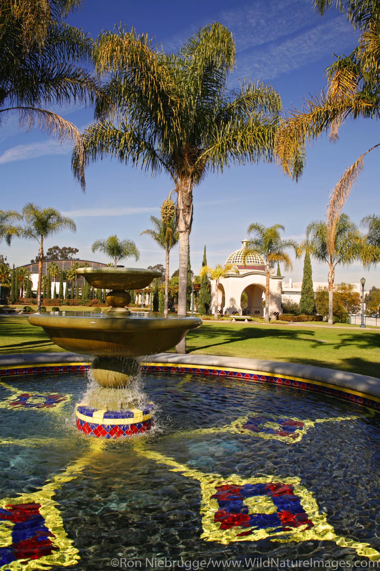 Gardens at the U.S. Naval Hospital, Balboa Park, San Diego, California.