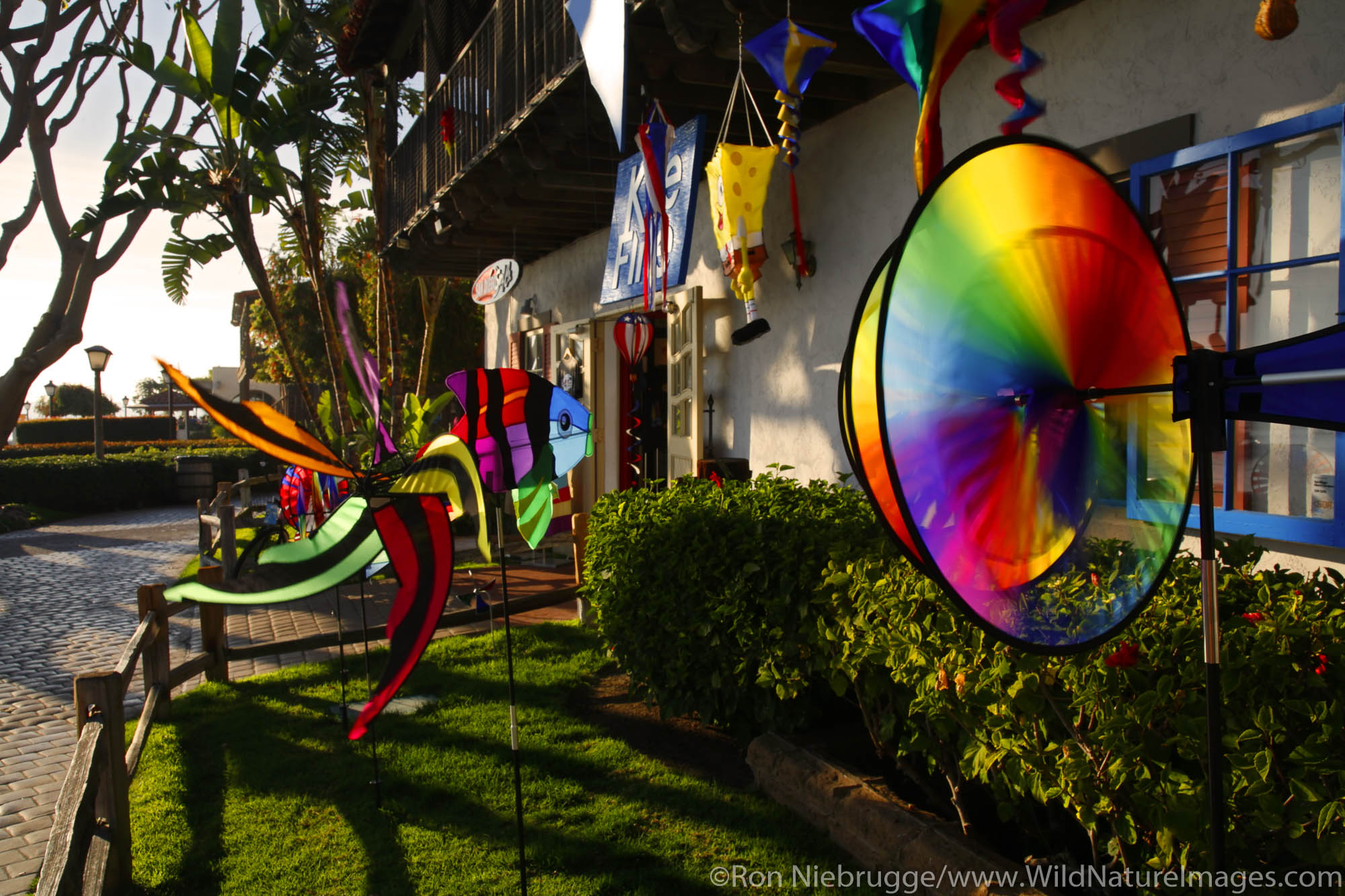 A kite store in Seaport Village, San Diego, California.