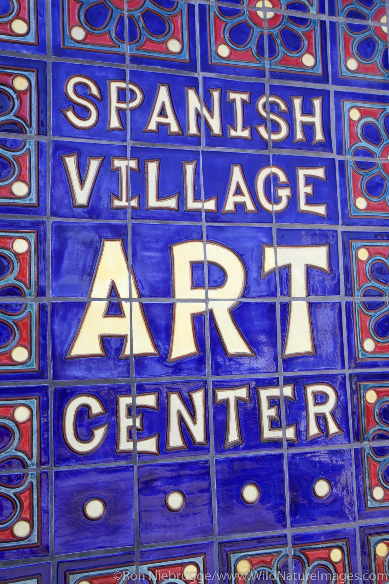 The Spanish Village Art Center, Balboa Park, San Diego, California.